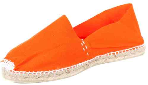 Espadrilles orange handmade